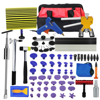pdr Tools Kit DIY Remove Dent Paintless tabs Repair Tool Car Dent Remover Reverse Hammer Straightening Pulling Dents Instruments car dents repair removal garage tools induction heating auto bodywork dent and ding repair remove diy kit straightening dents