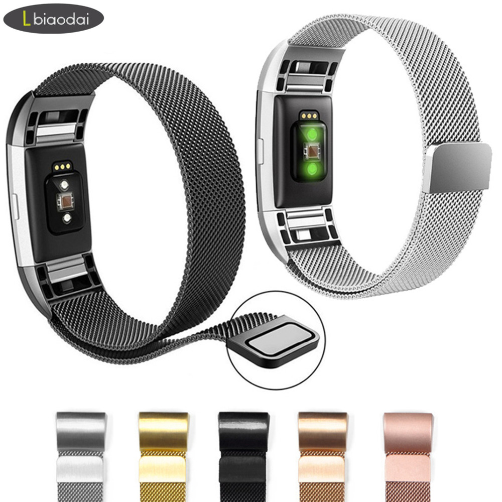 Milanese schleife für Fitbit Gebühr 2 band strap edelstahl metall uhr armband ersatz armband für für Fitbit Charge2
