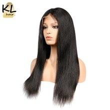 KL saç 250% yoğunluk ipek taban dantel ön peruk kadınlar için düz brezilyalı Remy saç dantel ön İnsan saç peruk bebek saç ile