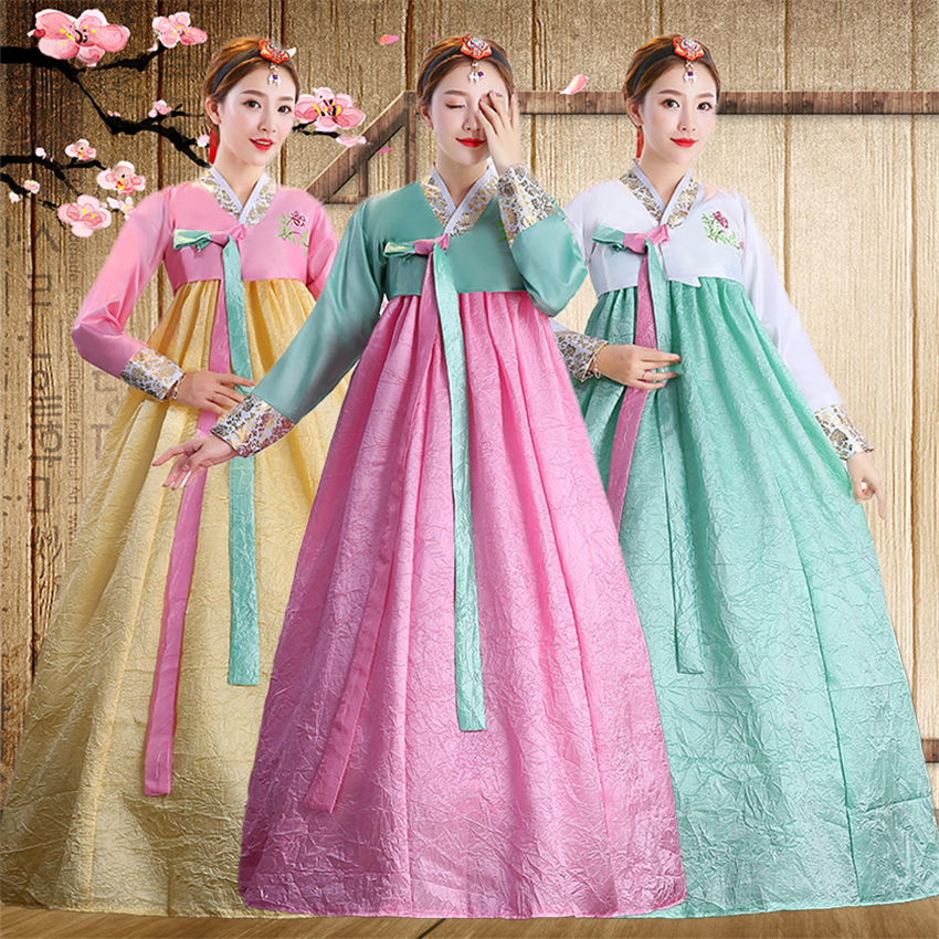 Korean Fashion Ancient Costume Women Hanbok Dress Stage Performance Festival Outfit Vintage Traditional Princess Asian Clothing