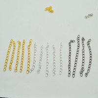 500g Pack 7mm Gold Silver Chains Alloy Metal Jewelry Extend The Chain For Necklace Bracelet Jewelry
