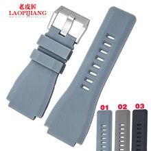 Laopijiang correa de silicona adaptador de accesorios BR correa de reloj a prueba de agua anti sudor pulsera moda para hombres mujeres 34 x 24 mm
