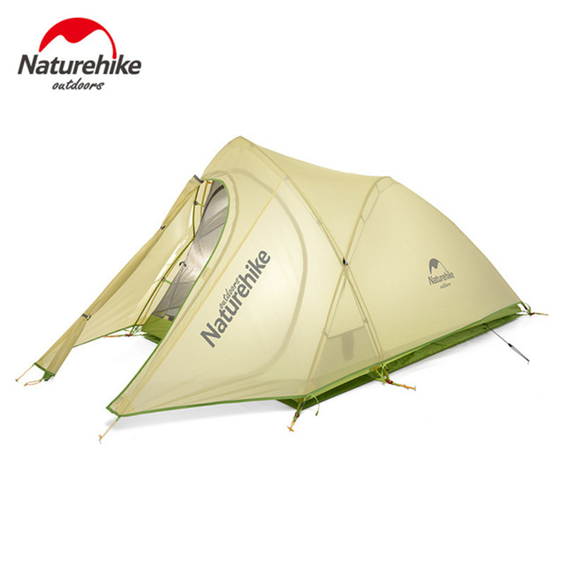 NatureHike New arrival Tent Camping 2 Person Waterproof Double Layer Outdoors Camping Durable Gear Picnic Tents Green Grey 5 pcs 27 gas cooktop ceramic spark electrode ignition for stoves gas stove accessories