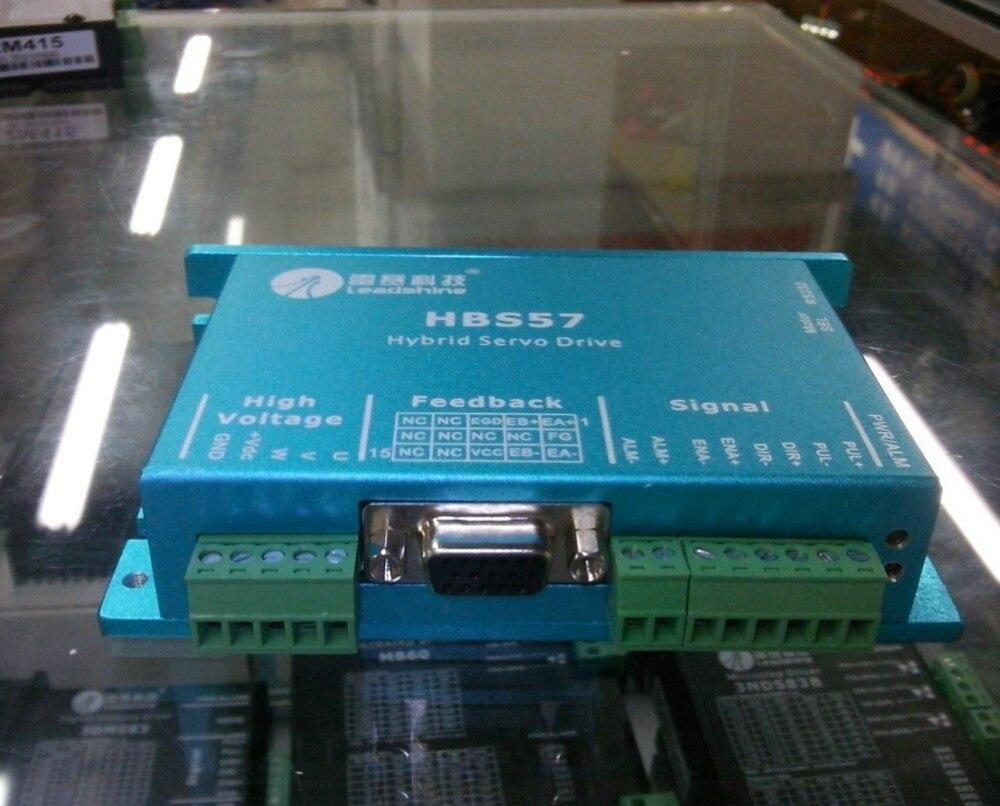 Neue Leadshine 3-phasen Hybrid servotreiber HBS507 arbeit zu 24-50VDC fit die servomotor 573HBM20-EC-1000 heraus 2NM servosysteme