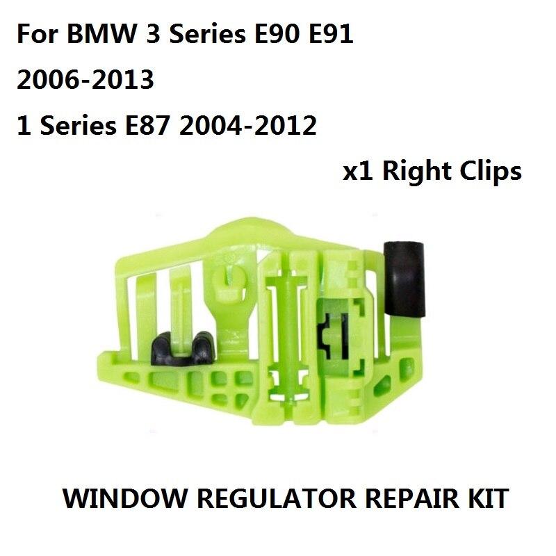 Kit de Reparo 4/5-Portas Regulador da janela Da Porta Traseira Direita Para BMW Série 3 E90 E91 2006-2013/Série 1 E87 2004-2012 clipe
