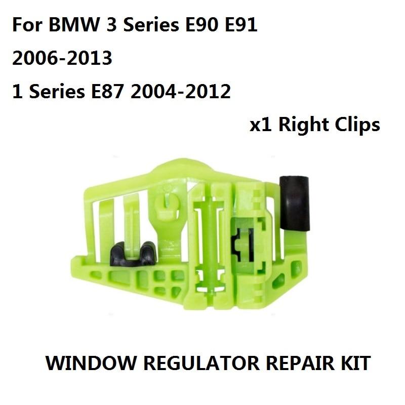 Window Regulator Repair Kit 4/5 - Doors Rear Right Door For BMW 3 Series E90 E91 2006-2013 / 1 Series E87 2004-2012 Clip