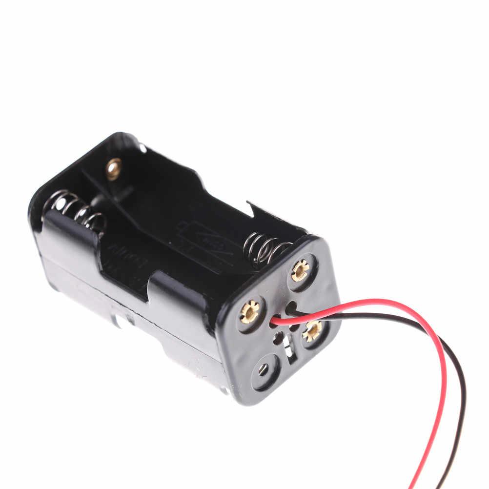 Conector JST 4 x AA Bateria do Receptor de Inserção Da Bateria Caso Box Compartimento para 1/8 1/10 1/16 Modelo DO Passatempo Do RC nitro Carro
