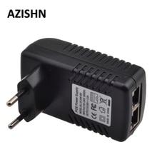 48V источник питания от сети Ethernet локальная сеть CCTV Мощность адаптер 0.5A 24 Вт, POE, pin4/5(+), 7/8(-) совместим с IEEE802.3af для ip-камера телефоны
