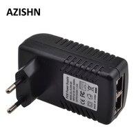 48 В Инжектор POE Ethernet адаптер питания 0.5A 24 Вт, POE pin4/5 (+), 7/8 (-) совместим с IEEE802.3af для IP камеры ip-телефоны