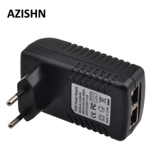 48V POE injector Ethernet CCTV Power Adapter 0.5A 24W,POE pin4/5(+),7/8( ) Compatible with IEEE802.3af for IP camera IP Phones