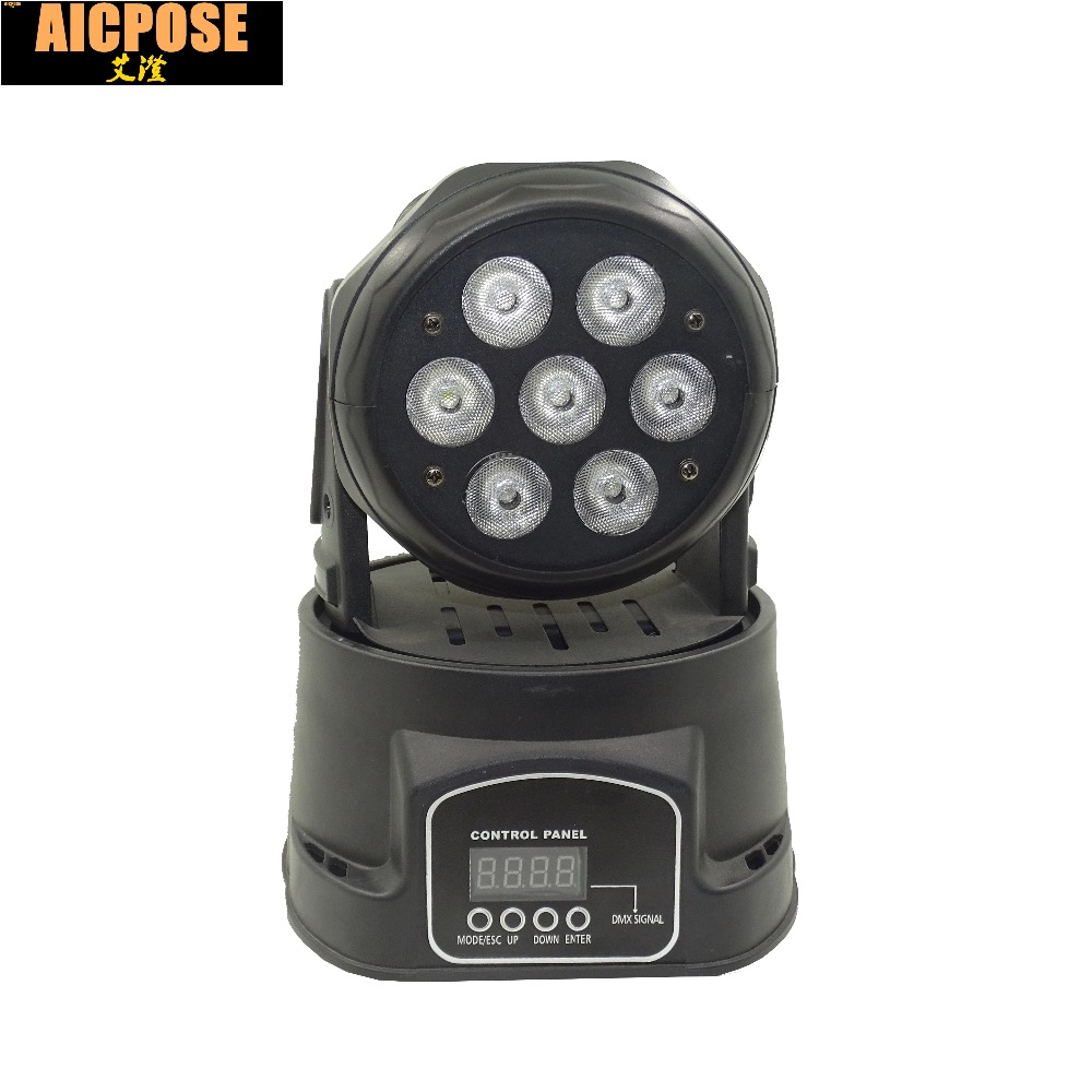 7x12W RGBW 4in1 quad mini led wash moving head light LED stage lights Mini 7*12w LED Moving Head 19 12w high power led rgbw wash light 16 channels ac90 240v moving head light professional stage
