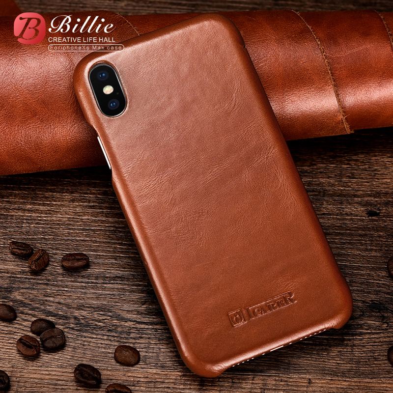 Vintage Luxury Genuine Leather Original Mobile Phone Cases For Apple iPhone Xs Max Full Edge Closed Flip Cover For Iphone XS