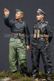 1:35 deutsch Heer Panzer <font><b>Crew</b></font> Set (2 Figuren) image