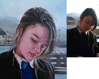 Professional Artist Team Support Customize Portrait Oil Painting On Canvas Artist Customize Realist Portrait Oil Painting