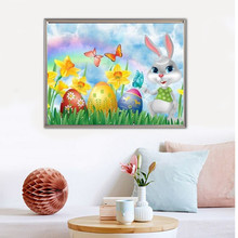 Diamond Painting Easter Egg Embroidery Cartoon Home Decoration Full Square Picture Rhinestone Mosaic