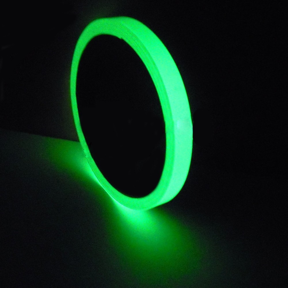 1PC Glow Fluorescent Stairs Sticker Permanent Cycle DIY Warning Luminous Strip Anti-collision Sticker 10-30mm Width 3M Length B