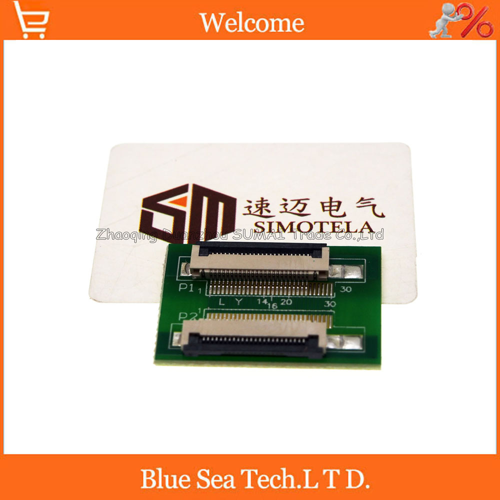 24 Pin 0.5mm FPC/FFC PCB connector socket adapter board,24P flat cable extend for LCD screen interface