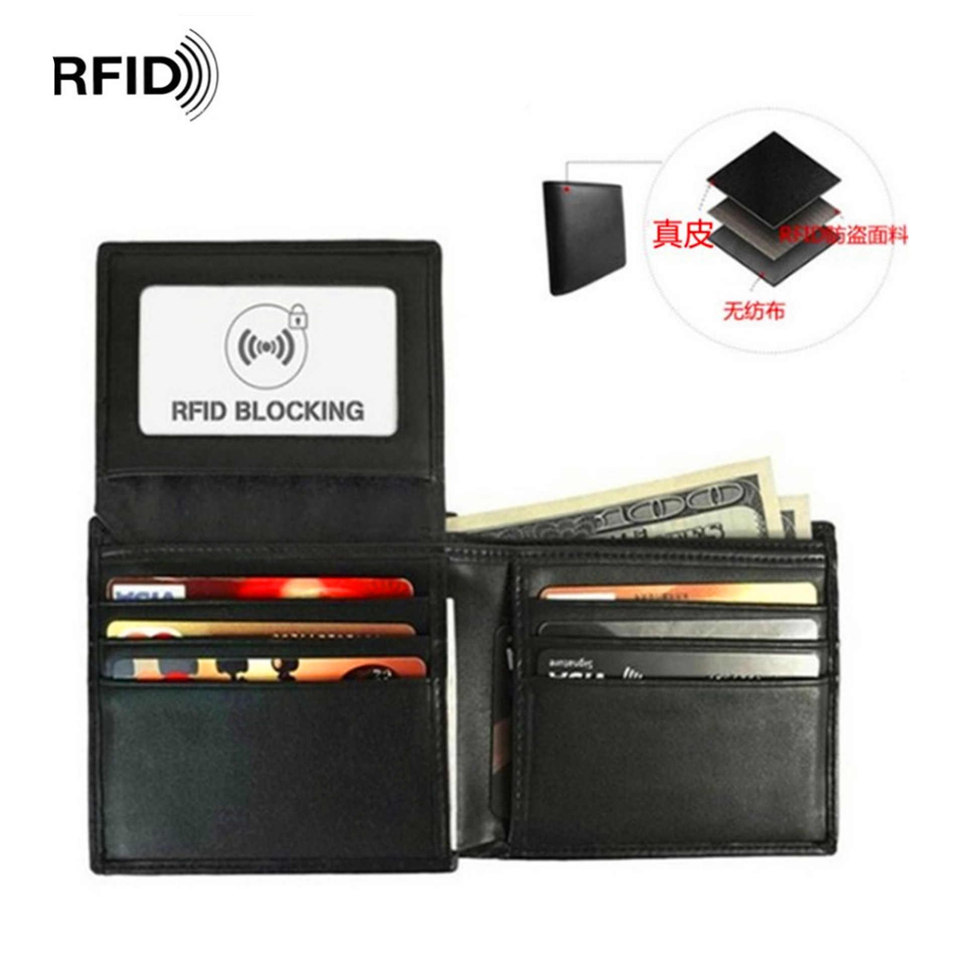 Импортные товары, хит продаж, кошелек из натуральной кожи, RFID, антимагнитный, свободный лист, nan nv, анти-сканирующий держатель для карт, кошелек