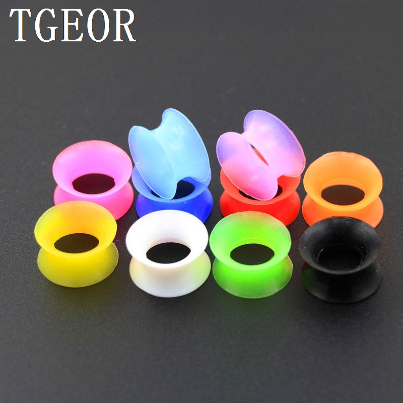 Hot Selling new arrive Fashion Charm gauges 130pcs mixed 13 sizes double flare silicone ear tunnels