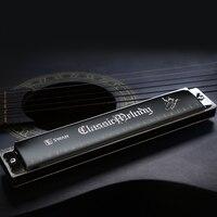 Swan 24 hole Tremolo Harmonica, brass sitting board, laser printing, Key of C