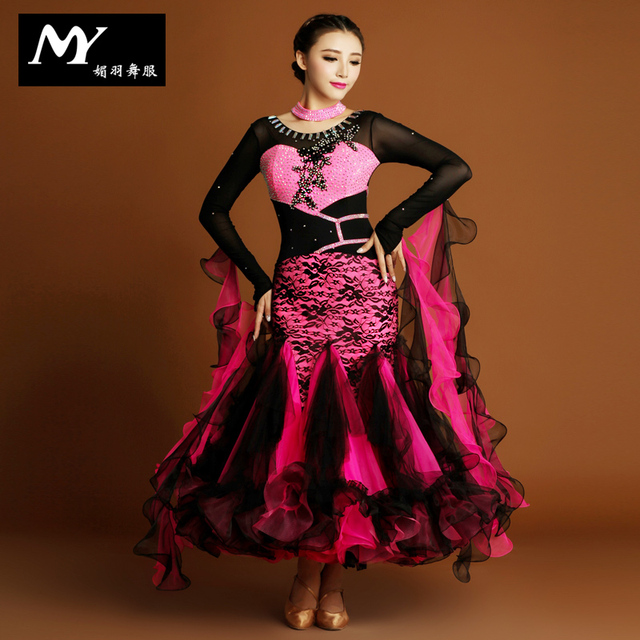 2018 Современные платья костюмы бальных танцев конкуренции платья
