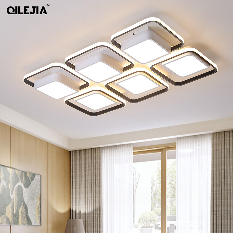 New Modern LED Chandeliers iron Acrylic Lamp for living room bedroom lamparas de techo colgante remote