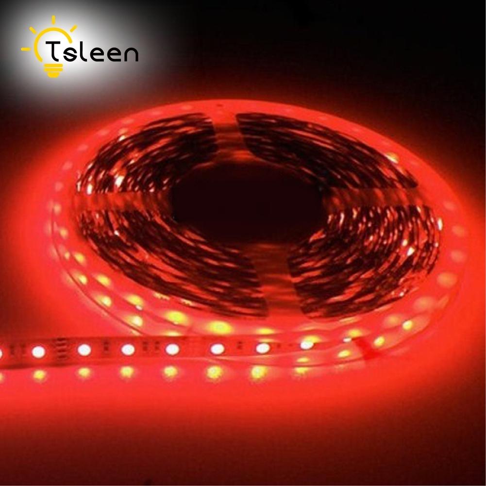 TSLEEN Free Shipping! LED Strip 5050 RGB lights 12V Flexible Home Lighting 5630 Waterproof LED Tape White Warm White Blue Green