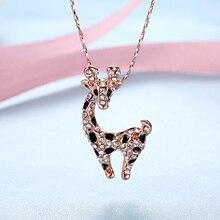 Giraffe Pendant Choker Necklace