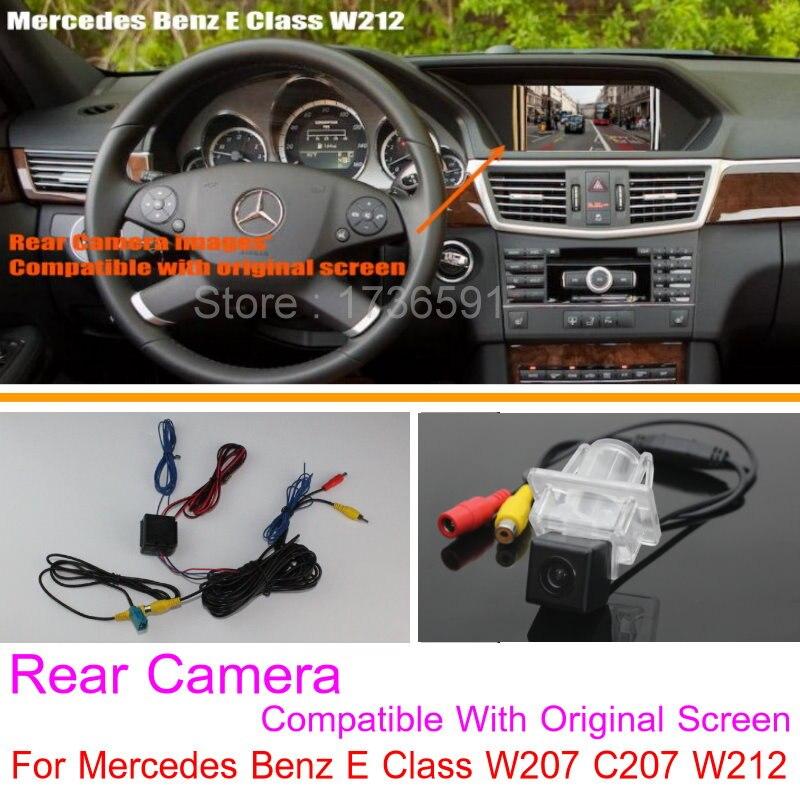 Lyudmila Pour Mercedes Benz Classe E W207 C207/RCA et D'origine Écran Compatible Voiture Caméra de Vision Arrière Fixe Retour up Caméra de Recul