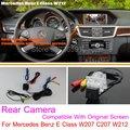 Para Mercedes Benz Clase E W207 C207/RCA y Pantalla Original Compatible/Cámara de Visión Trasera Fija/Copia de seguridad de Cámara de Marcha Atrás