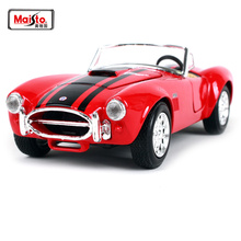Maisto 1 24 1965 Ford Shelby Cobra 427 Red and yellow Diecast Model Car Toy New