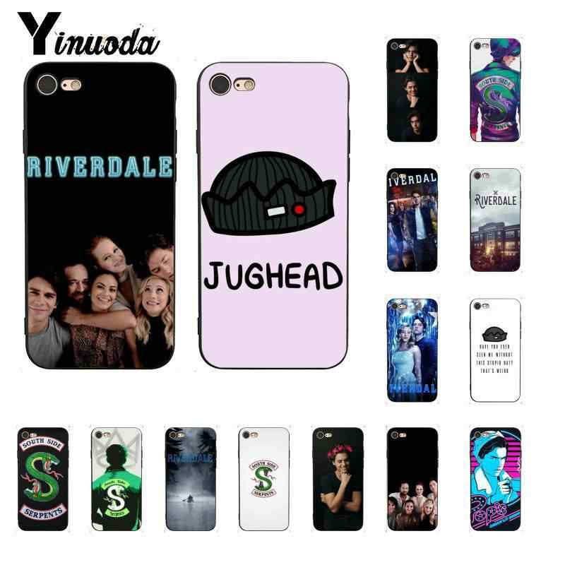 Yinuoda Riverdale South Side Serpents TPU Soft Silicone Black Phone Case for iPhone 6S 6plus 7 7plus 8 8Plus X Xs MAX 5 5S XR