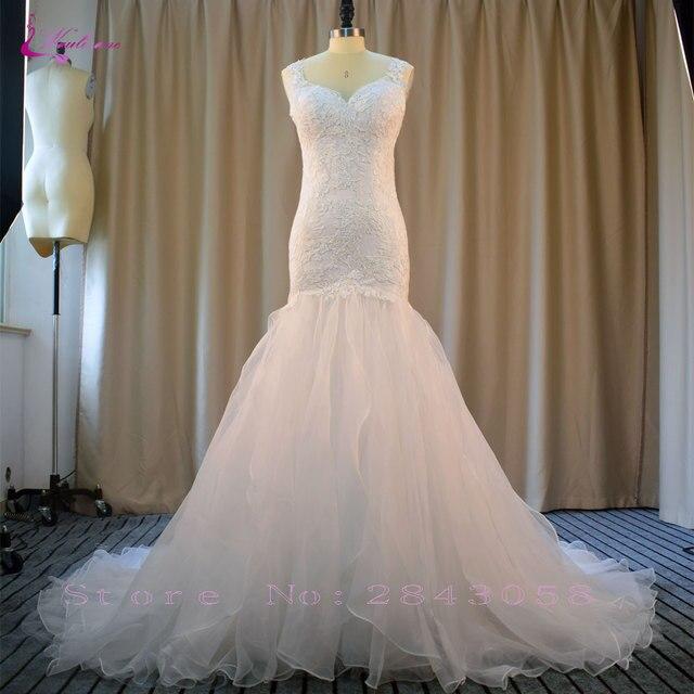 Waulizane Sweet Mermaid Brautkleider Luxus Hochzeitskleid ...