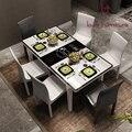 Современная и контракт индукционная плита закаленное стекло стол масштаб стол, Ешьте и председательствует на последние горячая стиль
