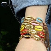 5Pieces Women Fashion Jewelry ,The Shels Shape Bracelet ,9 Plating Colors,Can Mixcan Wholesale