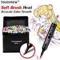 TOUCHNEW doux pinceau marqueurs stylo ensemble croquis double brosse marqueurs à base d'alcool Manga dessin Animation Design Art fournitures