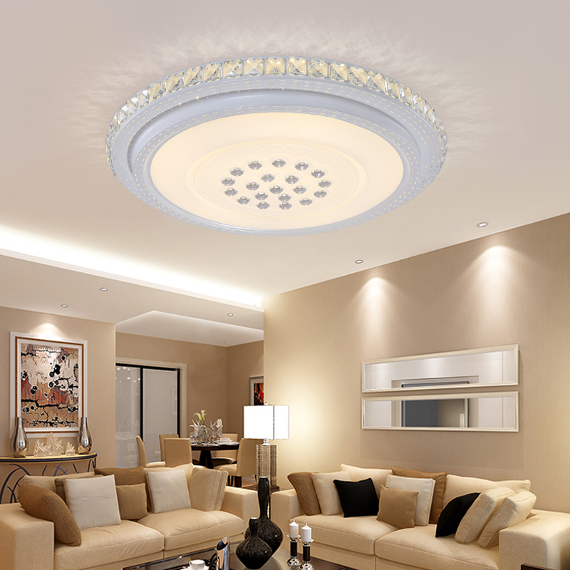 NEW Modern LED ceiling lights for living room bedroom Lamp modern led ceiling lamp dimming home lighting luminarias AC110V-220V noosion modern led ceiling lamp for bedroom room black and white color with crystal plafon techo iluminacion lustre de plafond