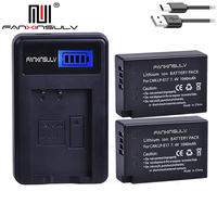 2 x LPE17 LP E17 LP E17 Batteries + LCD USB Charger For Canon 200D M3 M5 M6 77D 750D 760D T6i T6s 800D 810D 8000D Camera battery