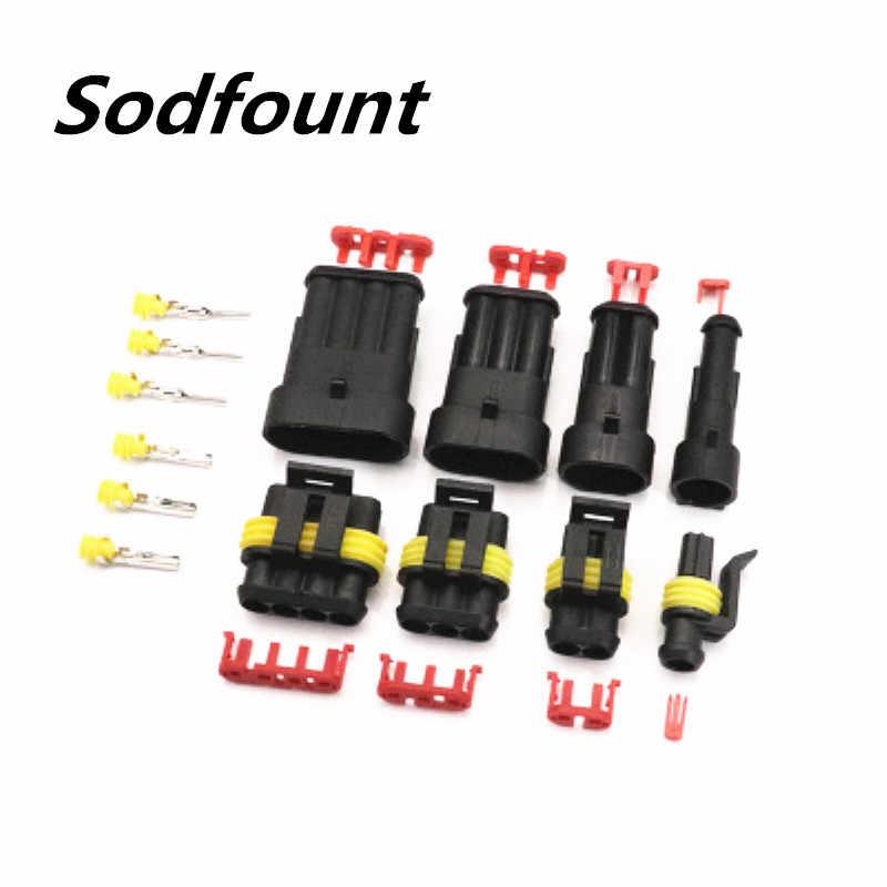 1 Set Kit 1P 2P 3P 4P 5P 6P Amp 1.5 Pria dan Wanita plug Otomotif Tahan Air Konektor Lampu Xenon Lampu Konektor untuk Mobil