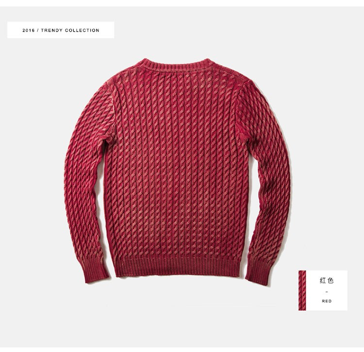 Aolamegs Men Sweater Fashion Casual Solid Color Knitting Pullover 2016 Autumn High Quality Simple Wild O-Neck Knitted Sweaters (13)
