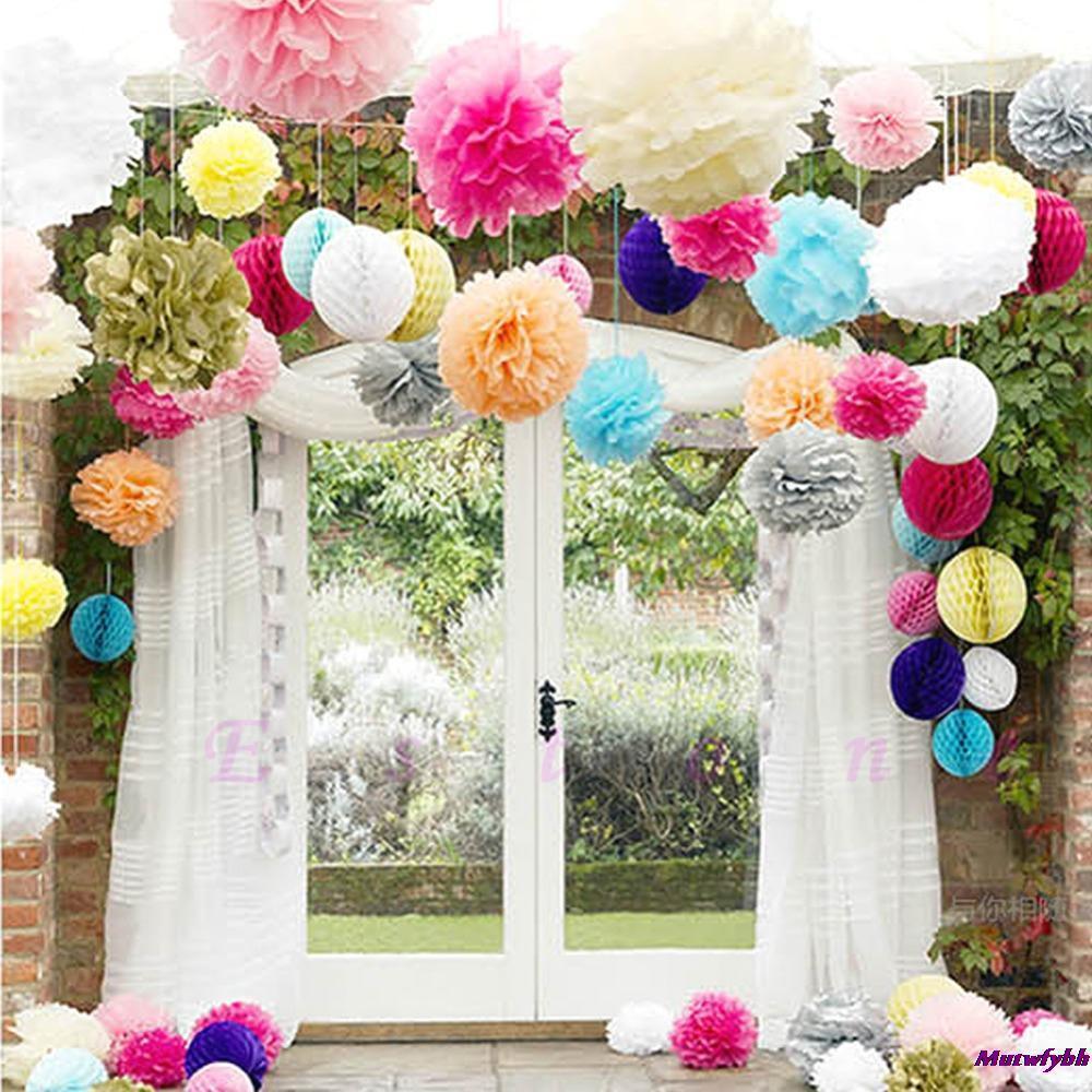 Hot Sale 6 10pcslot Tissue Paper Pom Flowers Balls 6 Wedding