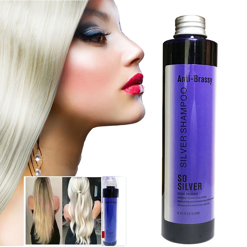 No Yellow Shampoo Silver Shampoo Keep Hair Ash Gray Eliminate Yellow Anti Brassy Long Lasting Dyed Color Lock For Blonde Hair