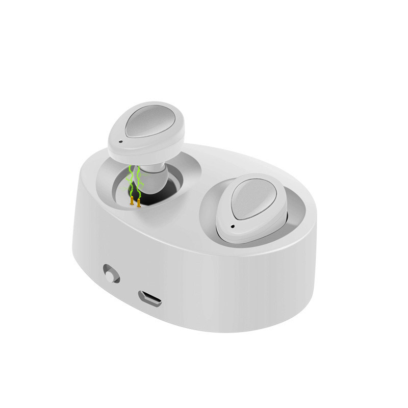 Smarcent TWS Bluetooth Headset Invisible Double Earpiece Wireless Headphones Stereo Twins Earbuds W Charing Box For