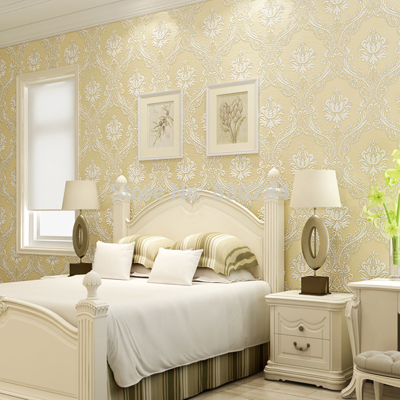 European Decorative Wallpaper Roll for Walls Non woven Wall Paper Floral Green Wallpapers Bedroom, Living Room Wallpaper Damask rustic wallpaper 3d stereoscopic wallpaper roll non woven pastoral wallpaper for walls bedroom wall paper pink for living room