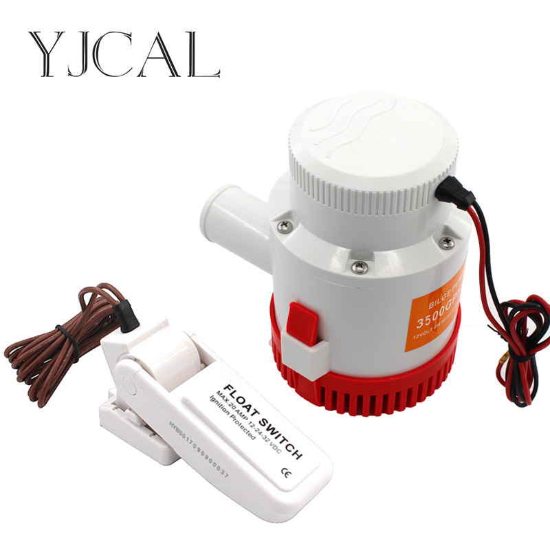Submersible Electric Water Pump 3500GPH DC 12V 24V Bilge Pump And Level Controller Float Switch Combination For Boats automatic electric water pump float switch dc float switch pump bilge pump switch water level controller mk ncfs12