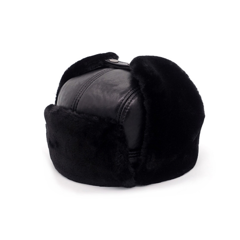 The material of the hat  Genuine Leather + High quality artificial mink hair b16b6a93ad99