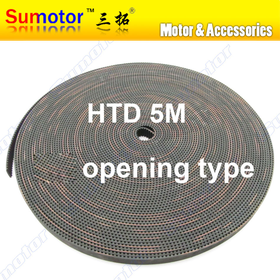 HTD 5M Arc tooth Width 20mm Pitch 5mm Synchronous rubber opening Timing belt Endless for CNC 3D printer Engraving Machine Part htd 5m arc htd tooth lenght 600 700 800 mm pitch 5mm synchronous timing belt cnc 3d printer engraving machine part reciprocating