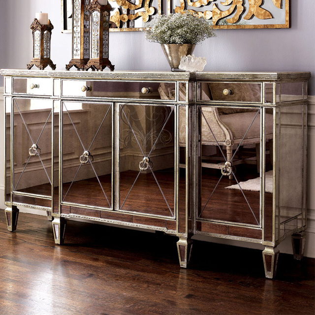 Lovely Horchow American Neo Classical High End Custom Wood Furniture For Living  Room Mirror Sideboard