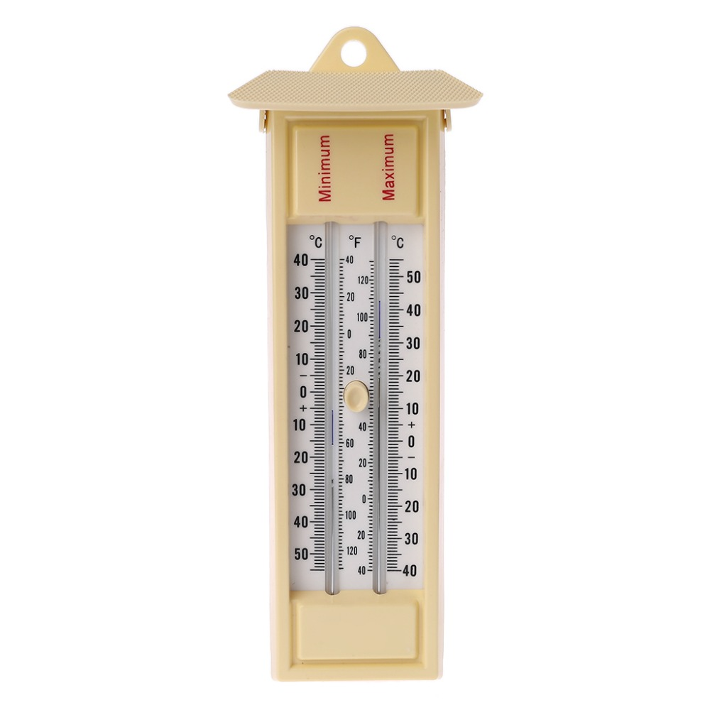 Termômetro máximo e mínimo-monitor de temperatura interno da parede da estufa do jardim exterior-40 a 50 degreec/-40 a 120 degrenf