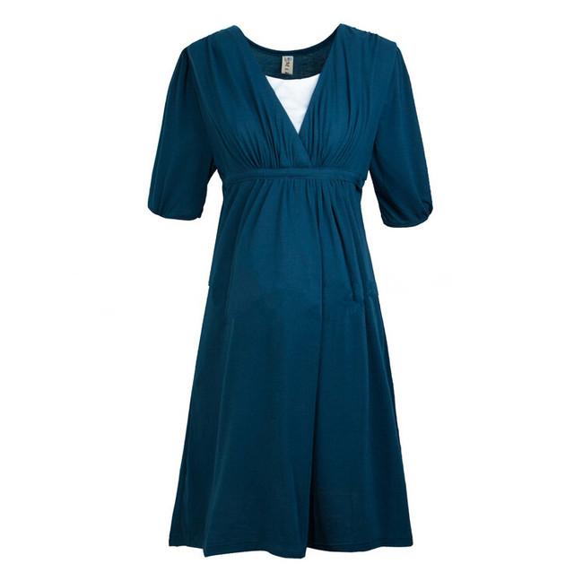 Amamentação roupas de enfermagem da maternidade roupas confortáveis de algodão dress para as mulheres grávidas gravidez verão dress roupas 2017
